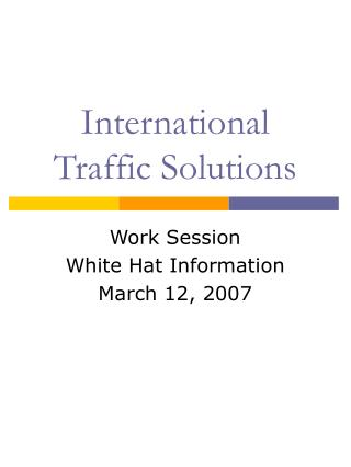 International Traffic Solutions