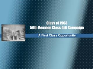 A First Class Opportunity