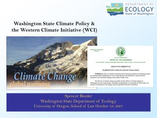Spencer Reeder Washington State Department of Ecology