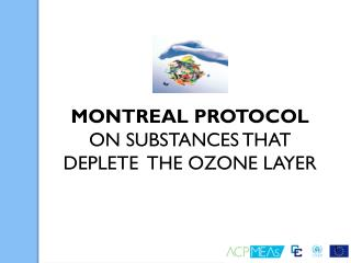MONTREAL PROTOCOL  ON SUBSTANCES THAT DEPLETE  THE OZONE LAYER