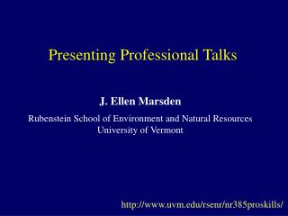 Presenting Professional Talks