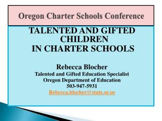 Oregon Charter Schools Conference