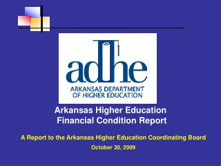 Arkansas Higher Education Financial Condition Report