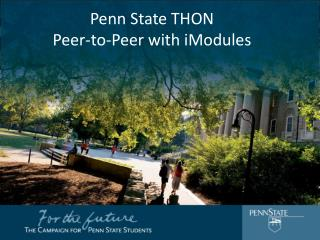 Penn State THON Peer-to-Peer with iModules