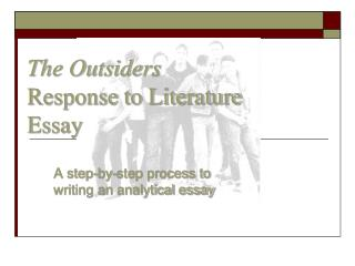 The Outsiders Response to Literature Essay