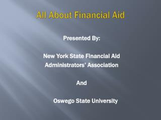 All About Financial Aid