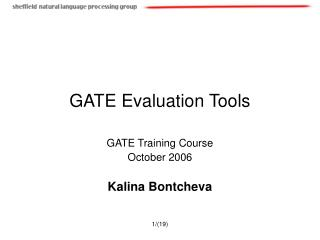 GATE Evaluation Tools
