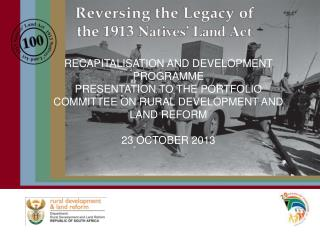 RECAPITALISATION AND DEVELOPMENT PROGRAMME
