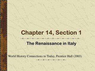 Chapter 14, Section 1