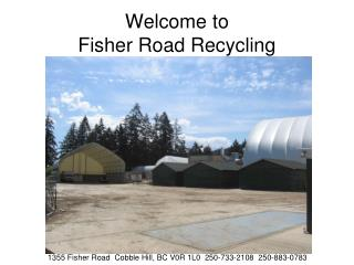 Welcome to Fisher Road Recycling