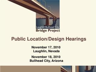 Public Location/Design Hearings