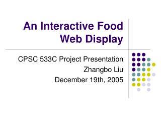 An Interactive Food Web Display