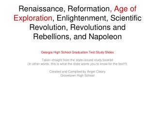 Georgia High School Graduation Test Study Slides