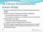 16.3 Service Oriented business process design