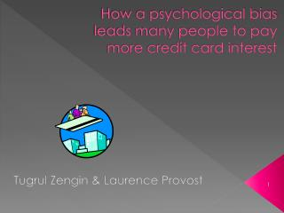 How a psychological bias leads many people to pay more credit card interest