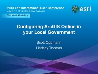 Configuring ArcGIS Online in your Local Government