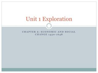 Unit 1 Exploration