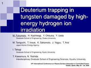 Deuterium trapping in tungsten damaged by high-energy hydrogen ion irradiation