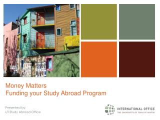 Money Matters Funding your Study Abroad Program