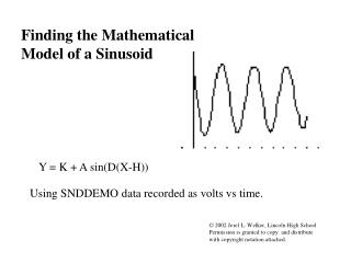 Finding the Mathematical Model of a Sinusoid