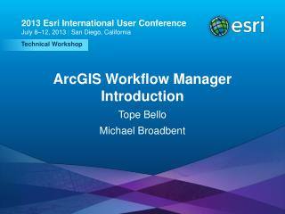 ArcGIS Workflow Manager Introduction