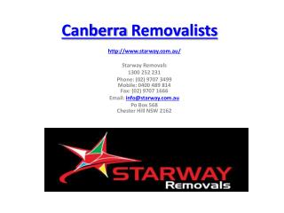Canberra removalists and Cheap removalists sydney