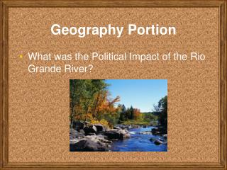 Geography Portion