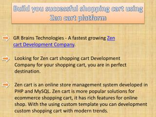 Build you successful shopping cart using Zen cart platform