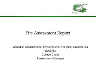 Site Assessment Report