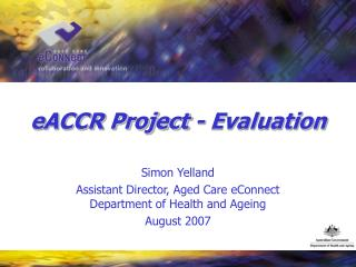 eACCR Project - Evaluation