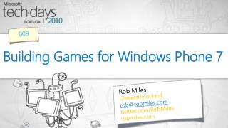 Building Games for Windows Phone 7