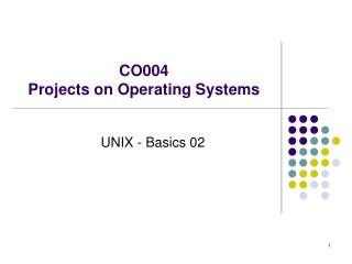CO004  Projects on Operating Systems