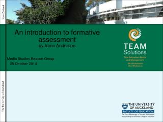 An introduction to formative assessment  by Irene Anderson
