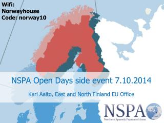 NSPA  Open  Days  side  event 7.10.2014