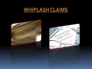 Whiplash Claims