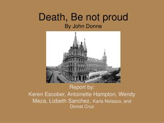 Death, Be not proud By John Donne