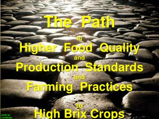 Principles to Produce Nutrient Dense Crops