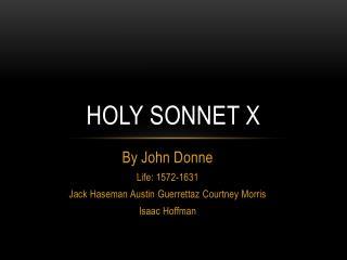 Holy Sonnet X