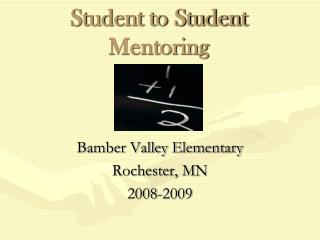 Student to Student Mentoring