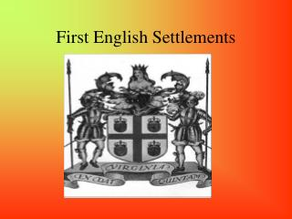 First English Settlements