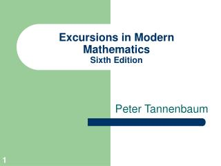 Excursions in Modern Mathematics Sixth Edition
