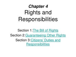 Chapter 4 Rights and Responsibilities