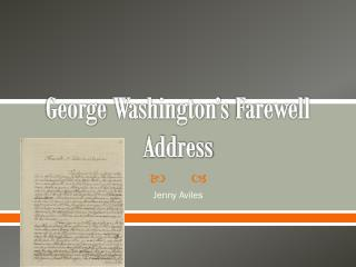 George  Washington's Farewell Address