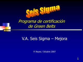 Programa de certificación  de Green Belts