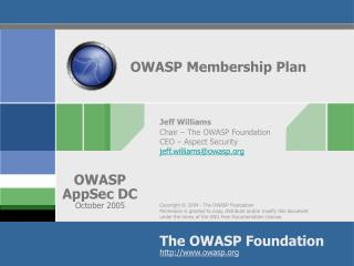 OWASP Membership Plan