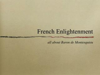 French Enlightenment