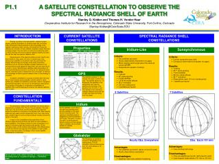 A SATELLITE CONSTELLATION TO OBSERVE THE  SPECTRAL RADIANCE SHELL OF EARTH