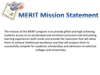 MERIT Mission Statement