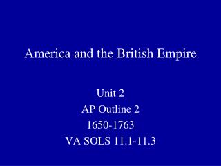 America and the British Empire