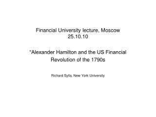 Financial University lecture, Moscow 25.10.10